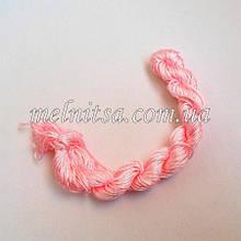 Нейлоновий шнур, 25м, товщина 1 мм, колір рожевий