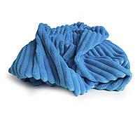 Плюш Minky stripes темно-голубой