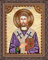 Набор для вышивки бисером именной иконы  «Святой Лев»