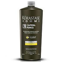 Капитал Форс, ежедневный энергетический шампунь-уход для мужских волос, 1000 мл