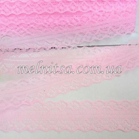 """Кружево """"Веерок"""" 2,8 см, цвет розовый"""