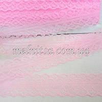 """Кружево """"Веерок"""" 2,8 см, цвет розовый, фото 1"""