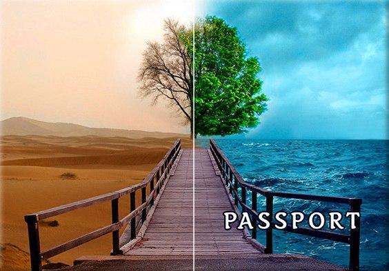 Обложка обкладинка на паспорт Абстракт природа abstract України Украина Pasport