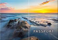 Обложка обкладинка на паспорт природа горы море України Украина Pasport