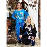 """Спортивный велюровый костюм """"Hello Kitty"""", разные цвета. Женский костюм Китти. Размеры 44-52."""