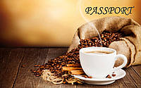 Обложка обкладинка на паспорт Кава Кофе Coffe України Украина Pasport