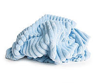 Отрез плюш Minky Stripes светло-голубой 100х80 см
