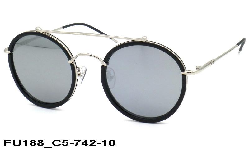 65fe9074d458 Женские солнечные круглые очки FU188 C35-742-10 - Интернет-магазин