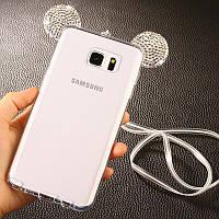 Силиконовый чехол - ушки Микки Мауса для Samsung G925F Galaxy S6 Edge