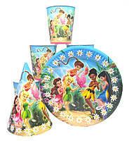 """Набор детской бумажной посуды """"  Феи Tinker Bell"""""""