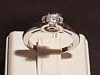 Серебряное кольцо с фианитом. Артикул 11002р 16,5, фото 1