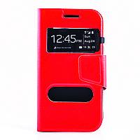 Чехол (книжка) с окошком для Xiaomi Redmi 2 красный