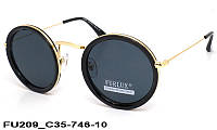 Женские солнечные круглые очки FU209 C35-746-10
