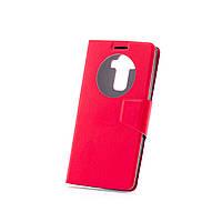 Чехол (книжка) с окошком для LG Google Nexus 5 красный