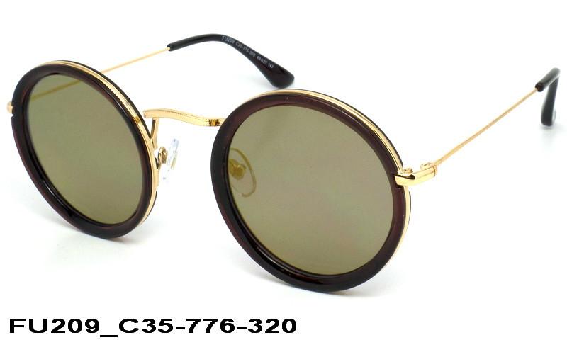 f106cc36d82e Женские солнечные круглые очки FU209 C35-776-320 - Интернет-магазин