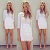 Женское батистовое белое летнее платье