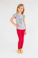 Детские лосины для девочки (красный) Модный Карапуз 03-00519-1
