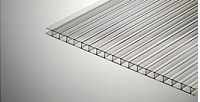 Прозрачный 6 мм (2,1х12,0 м) Сотовый поликарбонат Polygal  (Полигаль)