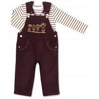 AZIZ  комбинезон коричневый джинсовый с регланом (015136-1B-brown)
