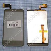 Дисплей HTC T328d (desire VC) с сенсором черный