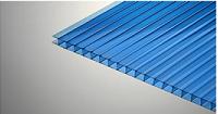 Голубой 4 мм ( 2,1х12,0 м) Сотовый поликарбонат Polygal (Полигаль )