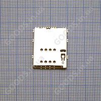 Коннектор SIM Samsung S5250, S5750; планшетов Samsung P5100 Galaxy Tab2 , P6800 Galaxy Tab , P7500 G