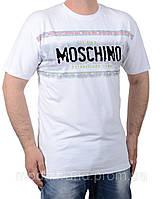 Летняя белая мужская футболка опт-розница Moschino-1214