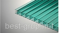 Зелёный 6 мм ( 2,1х12,0 м) Сотовый поликарбонат Polygal (Полигаль )