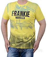 Стильная мужская футболка желтая
