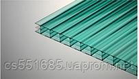 Зелёный 10 мм ( 2,1х12,0 м) Сотовый поликарбонат Polygal (Полигаль )