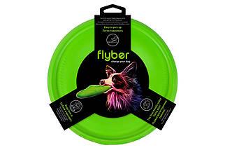 Летающая тарелка Флайбер, диаметр 22см, салатовая
