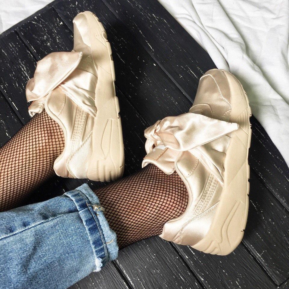 Женские кроссовки в стиле PUMA Fenty by Rihanna Bow Sneaker Pink Tint 3cbea1fe5