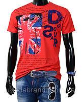 Яркая молодежная футболка Dsquared-1123 красная