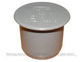 Заглушка ПВХ Wavin для внутренней канализации серая 50