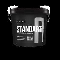 Структурная водно-дисперсионная краска для наружных работ  KOLORIT STANDART R, 9 л База LAP