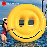 Надувной матрас Modarina Смайл 160 см Желтый PF3344, фото 1