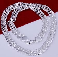 Стильна ланцюжок срібло 925 проба 10мм. (покриття)
