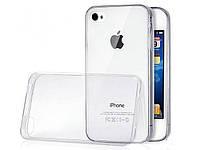 Силиконовый ультратонкий прозрачный чехол для iPhone 4/4S
