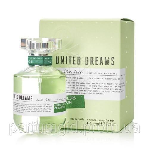 Benetton United Dreams Live Free Edt 50ml Original туалетная вода