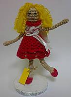 Игрушка Девочка Ангел вязаная крючком, фото 1