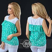Женская модная блуза в принт (5 цветов)  ВД069