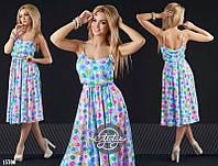 Женское стильное платье пояс на резинке Цвета- верх красный, голубой, белый, сирень ВД077