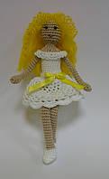 Детская Игрушка Девочка Ангел вязаная крючком, фото 1