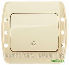 Выключатель кнопочный El-Bi ZIRVE  (Ель-Би-Зирв) крем 501-010300-205