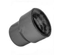 Патрубок для соединения с чугунной трубой (Тапер) ПВХ Wavin для внутренней канализации серый 110