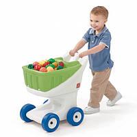 Детская тележка для покупок - Step 2 - США - оснащена широкими, надежными колесами