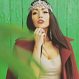 Діадема під срібло з підвісними камінням, корона, тіара, висота 8,5 див., фото 4
