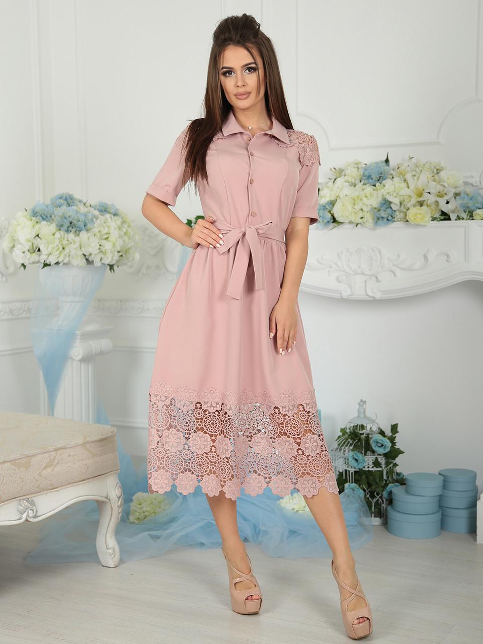 Нарядное Платье Беатрис пудра