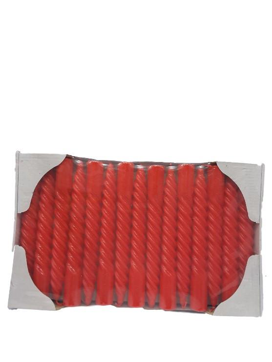 Свеча декоративная крученая красная
