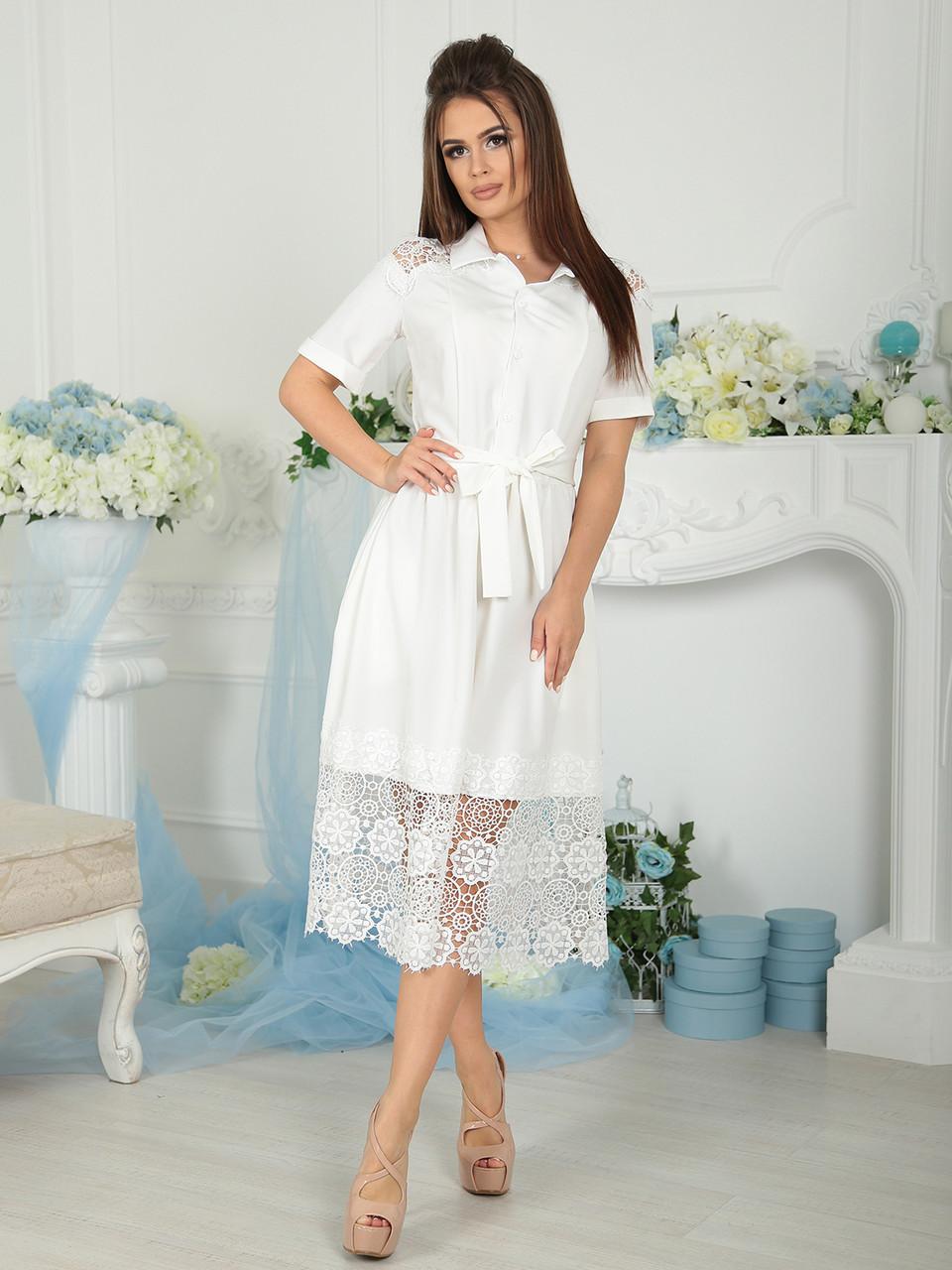 Нарядное белое Платье Беатрис